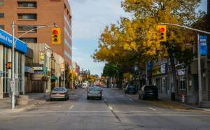 Simcoe St. looking north from Athol St. by Graeme George