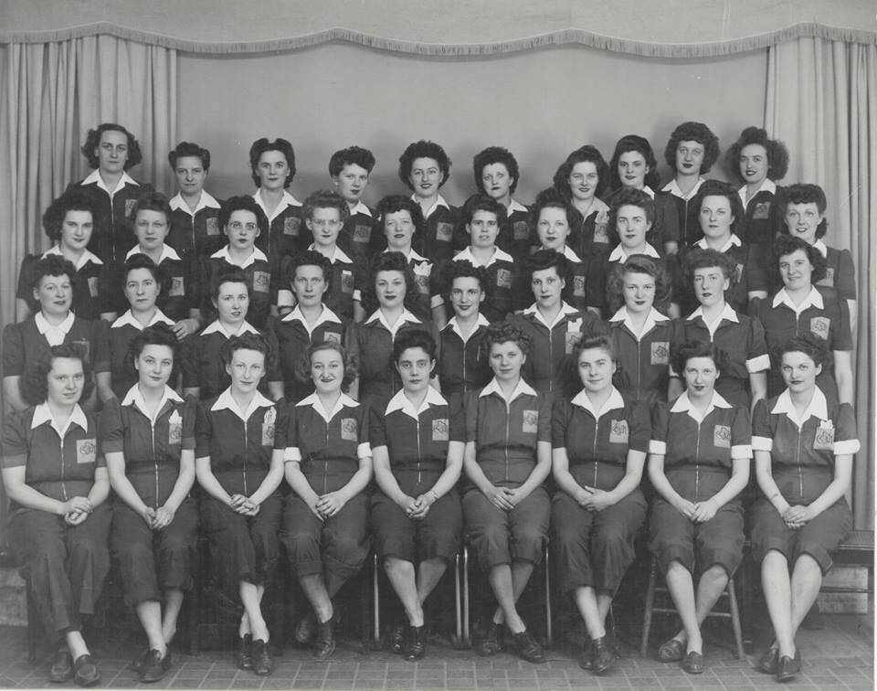 Rosie's the Riveters, c. 1943.