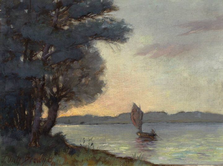 Archibald Browne (Canadian, b. England, 1862 - 1948); Evening Glow; 1899 ?; oil on canvas; Gift of Dr. J.M. Goodman, 1988