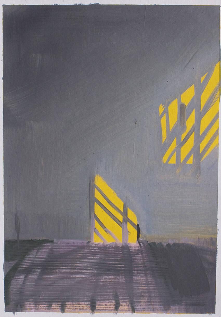 E. Lafontaine, 6h00, oil on paper, 2016