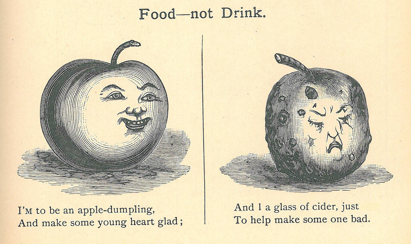 Edward Carswell, Food not Drink, Temperance Stories and Sketches Illustrated with Pen and Pencil. Courtesy of the Oshawa Museum.