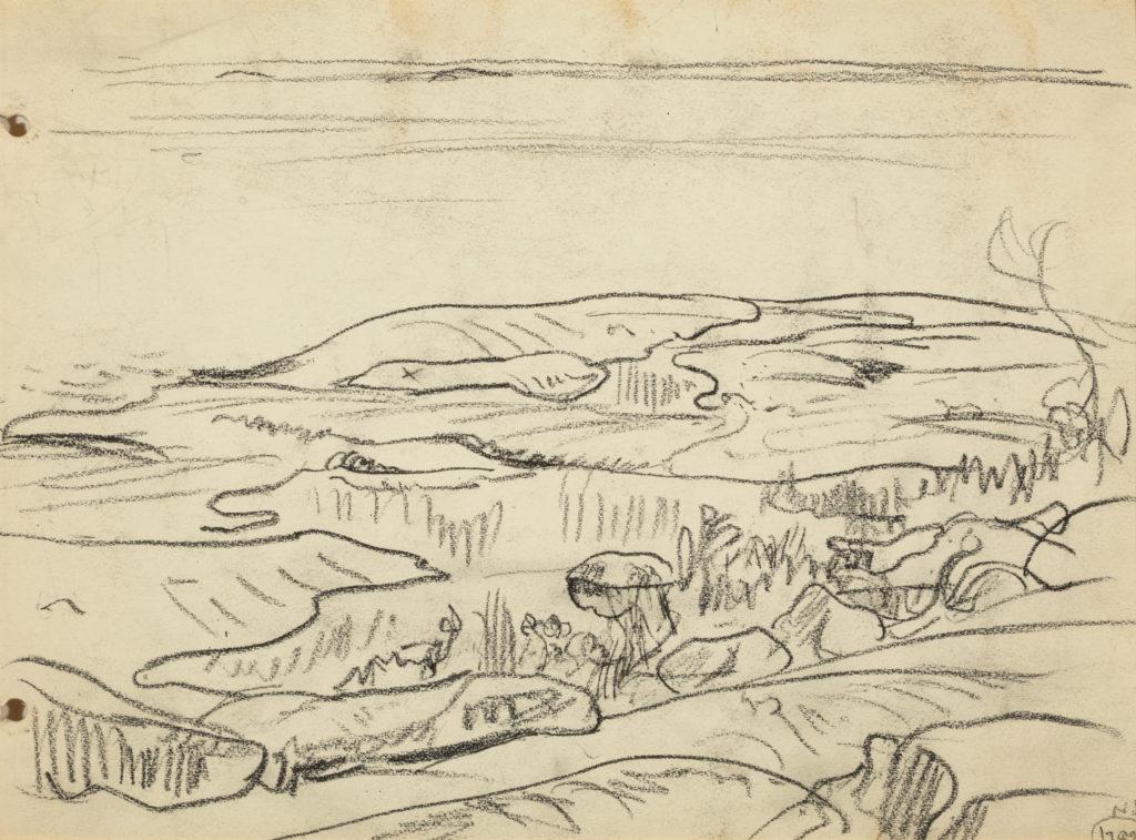 Sketch of landscape by A.Y. Jackson.